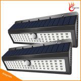 Lâmpada solar solar do sensor de movimento da luz do jardim de 900 lúmens