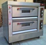 Tipo común horno de gas de la bandeja de la cubierta 4 del equipo 2 de la panadería para el departamento de la hornada