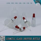 Nachfüllbare bereiftes Glas-Tropfenzähler-Glasflasche für wesentliches Öl