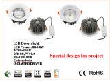 ÉPI enfoncé par haute énergie Downlight de 60W DEL pour le projet et l'éclairage commercial