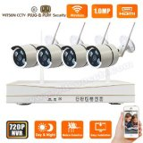 Wireless Home Vigilância p2p 720p Digital IP WiFi CCTV Camera Kit Sistema NVR