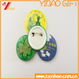 Kundenspezifisches Zinn-Tasten-Abzeichen mit Drucken-Firmenzeichen (YB-BT-09)