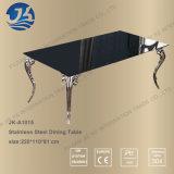 功妙なステンレス鋼の足を搭載するヨーロッパデザイン家具のダイニングテーブル