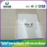 Бирка Hang печатание PVC роскошной политуры упаковывая бумажная