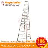 escada de extensão de alumínio da escada 17steps