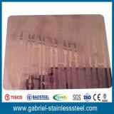 feuille gravée en relief par épaisseur d'acier inoxydable de 2mm
