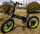 motor trasero 250W plegable la bicicleta eléctrica del neumático gordo de 20 pulgadas
