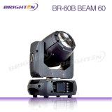 Mini iluminación escénica móvil estupenda de la viga del LED 60W LED para DJ (BR-60B)