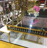 Tableau acrylique de mariage de dessus de miroir de décoration de bâti d'or d'acier inoxydable de miroir