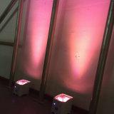 사건 당 6/10CH를 위한 Rasha 코어 새로운 자동차 APP WiFi 지능적인 4*18W 6in1 Rgbaw UV 배터리 전원을 사용하는 LED Uplight