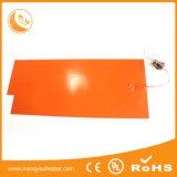 Elemento riscaldante di vetro, rilievo di calore del silicone flessibile