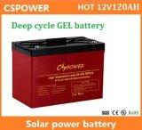 Batterie profonde de gel de cycle de Cspower 12V120ah pour la mémoire d'énergie solaire, fournisseur de la Chine