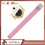 Reloj del deporte de las señoras de Digitaces del color de rosa del marco del metal