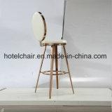 使用される食堂のための卸し売り高い足のステンレス鋼の椅子