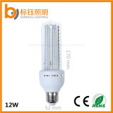 12W U PBT 프레임 바디 화재 감전 램프 반점 빛 E27 SMD2835 옥수수 전구 실내 점화