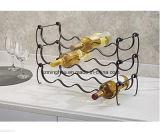Sostenedor de botella de vino del estante del vino del metal de las encimeras de la botella de los muebles 4