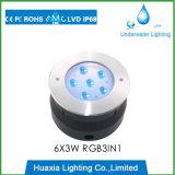 316의 스테인리스 18W RGB LED 수중 수영장 빛