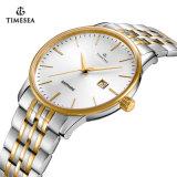 남자를 위한 고품질 스테인리스 한 쌍 시계, 일본 운동 가죽 시계 및 여자 70029