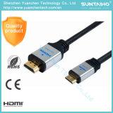Macho liso de 1.3V /1.4V ao cabo masculino da sustentação HDMI do cabo 3D de HDMI
