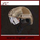 Casco tattico della polizia di sicurezza di Airsoft dell'attrezzo da vendere il casco degli occhiali di protezione di promozione