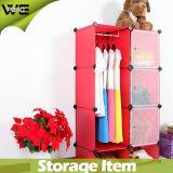 Mobília plástica do quarto do armário do Wardrobe da forma da caixa de armazenamento