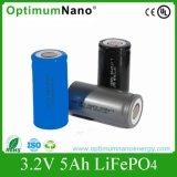 Batería recargable cilíndrica del ciclo profundo 3.2V5ah LiFePO4