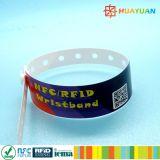 Pulsera disponible de la aduana Ntag213 RFID NFC del sistema del boleto