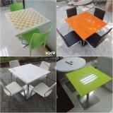 Moderner quadratischer fester Oberflächenmarmorsteinbankett-Tisch (T1701172)