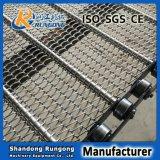 Cinto transportador de corrente de corrente de fabricante Cinto transportador de malha de aço inoxidável