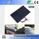 Panneau solaire flexible monocristallin solaire de la pile 12V 40W