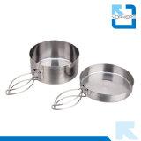 4 het Kamperen van het Roestvrij staal van de Openlucht van de Keuken Cookware stukken Toebehoren van de Reis