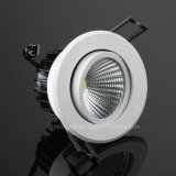Recessed LED COB Downlight 9W with Ce, RoHS, SAA, LVD, EMC Certification