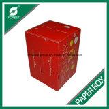 플라스틱 손잡이로 포장하는 과일을%s 광택 있는 박판 골판지 상자
