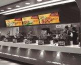 43-pulgadas de pantalla LCD que hacen publicidad con 500 Brillo, para el tablero de catering Menú Digital
