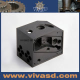 CNC точности подвергая изготовленный на заказ черное Delrin механической обработке разделяет качественные продучты Hight