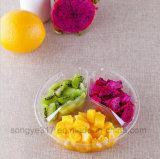Коробка упаковки свежих фруктов 3 контейнеров PVC ясная устранимая