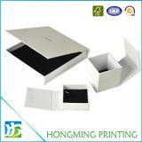 Коробки ювелирных изделий бархата картона OEM оптовые белые