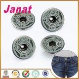 Серебряная кнопка металла джинсыов цвета