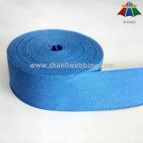 Webbing puro Eco-Friendly orgânico da fita do algodão de Colorized 100% para sacos e vestuários