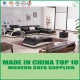 L sofà di alta qualità del cuoio nero & bianco di figura per la casa