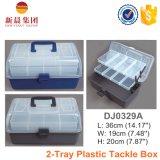 2-Tray borran el rectángulo ordenado plástico de la cubierta