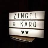 Cadre cinématographique d'éclairage LED d'étalage de lettres du cadre léger DIY