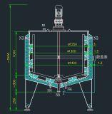 Réservoir de mélange de refroidissement de crème de constructeur de réservoir de réservoir d'acier inoxydable de réservoir