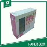 Изготовленный на заказ бумажная коробка подарка с пластичной ручкой (ПУЩА ПАКУЯ 010)