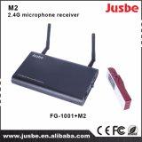O sistema audio do M2 2.5g Duplo-Passa o receptor do microfone para ensinar