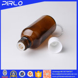 bottiglia di olio essenziale ambrata di vetro di colore di 5ml 10ml 15ml con la bottiglia di olio essenziale evidente inalterabile del riduttore dell'orifizio e della protezione