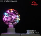 Ampoule colorée spéciale du matériau G125 G95 G80 de câblage cuivre d'ampoules d'étoile de RVB DEL