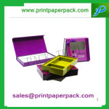 Custom Fancy Cheveux Humains Bijoux Boîte en carton Boîte de parfum Boîte d'emballage en papier cosmétique Boîte d'emballage cadeau avec sac en PVC Flocage