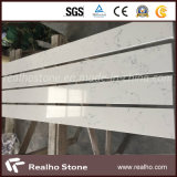 Manmade Artificial White Grey Viens Carrara Quartz Stone pour salle de bain Vanitytop / Kitchen Countertop