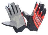 スリップ防止ケイ素の試しの手袋にパッドを入れる完全な指の自転車のゲルを循環させるJinrex